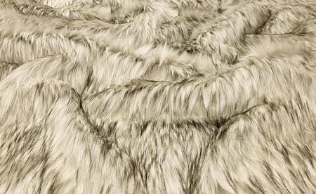 SALE Raccoon Faux Fur Throws with Cream Velboa