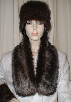 Brown Bear Faux Fur Neck Scarf Black Friday