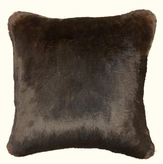 Brown Softee Faux Fur Cushions