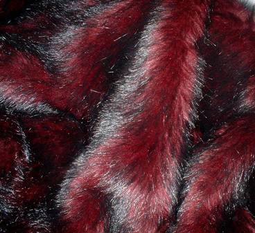 Tuscan Red Faux Fur Boot Toppers (Pair)
