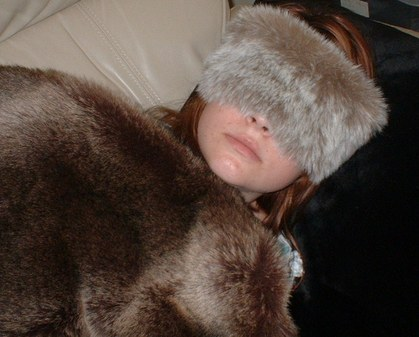 Koala Faux Fur Eye Mask