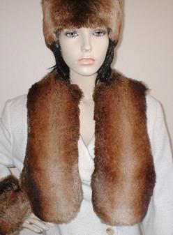 Madagascar Faux Fur Bolero/Waiscoat