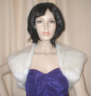 Snow White Faux Fur Shrug