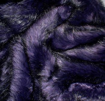 Purple Rain Faux Fur Fabric