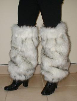 Alaska Faux Fur Leg Warmers