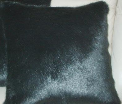Charcoal Mink Faux Fur Cushion 61 x 61cm