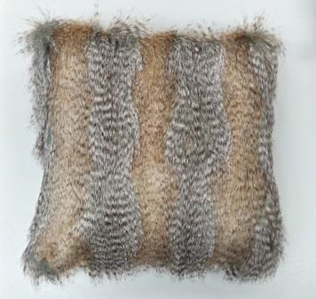 Desert Coyote Faux Fur Cushions 51 x 51cm