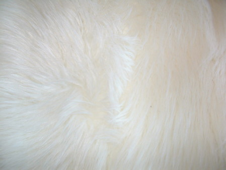 Polar Bear Faux Fur Fabric per meter