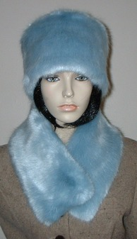 Powder Blue Faux Fur Hat