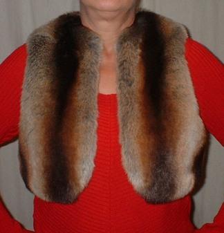 Golden Brown Chinchilla Faux Fur Bolero/Waistcoat