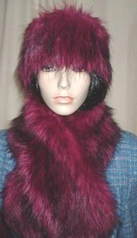 Magenta Faux Fur Headband