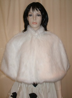 Snow White Faux Fur Cape