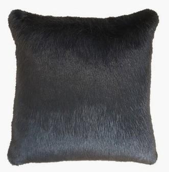 Charcoal Mink Faux Fur Cushions