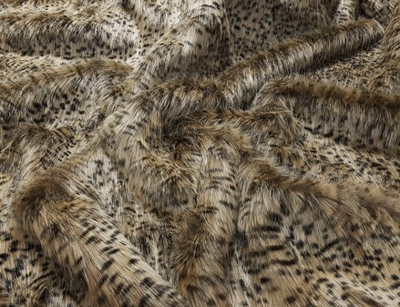 Cheetah Faux Fur Fabric Per Meter