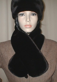Originial Chocolate Moleskin Faux Fur Neck Scarf