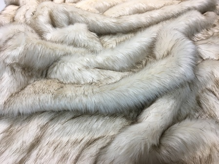 Cornsilk Faux Fur Throws