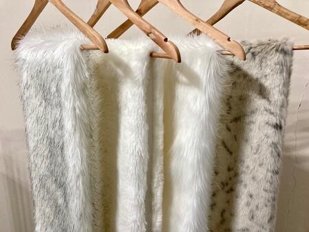 Polar Bear Faux Fur Slim Stole
