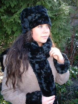 Black Astra Faux Fur Cuffs