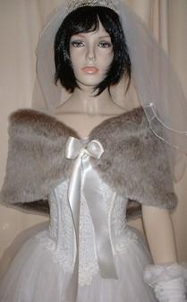 Koala Faux Fur Wrap