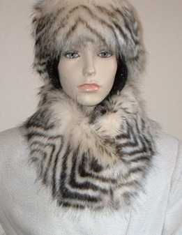 Sumatra Tiger Faux Fur Long Collar