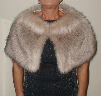 Fawn Musquash Faux Fur Capelet