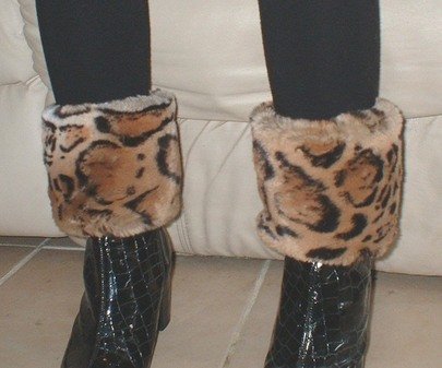 Jaguar Faux Fur Boot Toppers