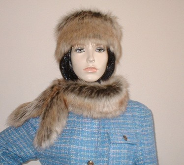 Husky Faux Fur Slim Collar/Headband