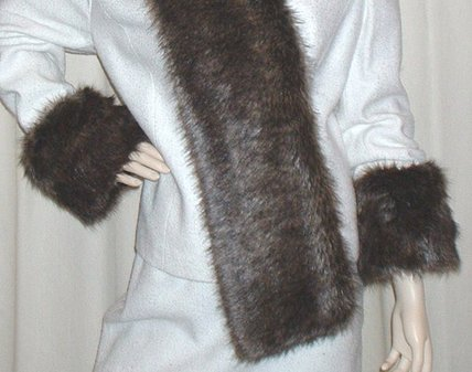 Brown Bear Faux Fur Cuffs