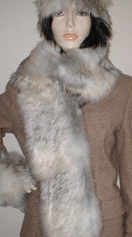 Snow Wolf Faux Fur Scarf