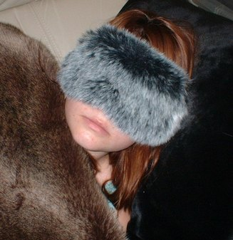 Arctic Wolf Faux Fur Eye Mask