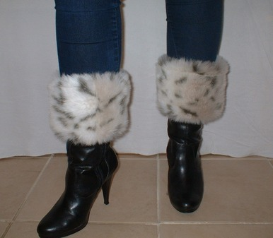Snow Lynx Faux Fur Boot Toppers