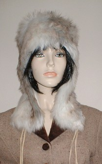 Snow Wolf Faux Fur Trapper Hat
