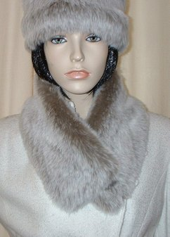 Koala Faux Fur Long Collar