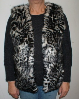 Panther Faux Fur Gilet