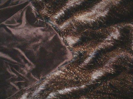 Kodiac Bear Brown Faux Fur Throws