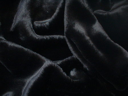 Black Mink Faux Fur Fabric Per Meter