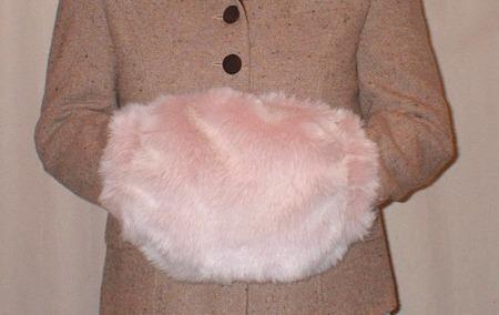 Pink Champage Faux Fur Muff