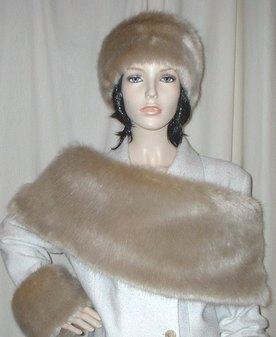 Honey Blonde Faux Fur Fling