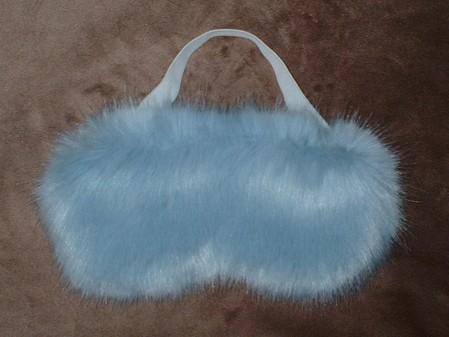 Powder Blue Faux Fur Eye Mask