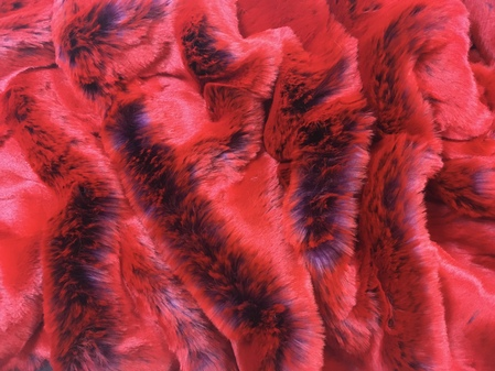 Tissavel  Devil Red Faux Fur
