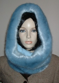 Powder Blue Faux Fur Cowl/Neck Warmer