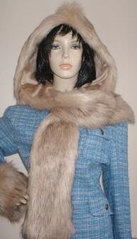 Fawn Musquash Faux Fur Hoodie