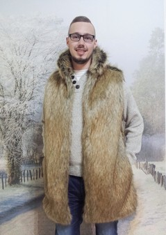 Mens Husky Faux Fur Gilet