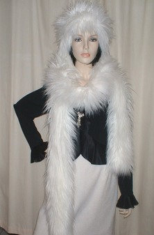 Polar Bear Faux Fur Super Long Scarf