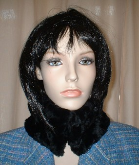Black Astra Faux Fur Collar