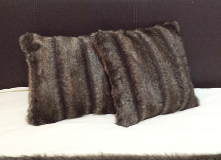 Rocky Mountain Faux Fur Cushion 51x51cm 20