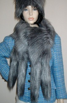 Siberian Wolf Faux Fur Tail Scarf