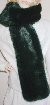 Hunter Green Faux Fur Scarf