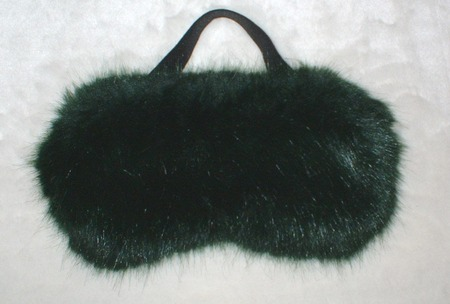 Hunter Green Faux Fur Eye Mask