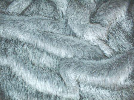 Silver Musquash Faux Fur Swatch